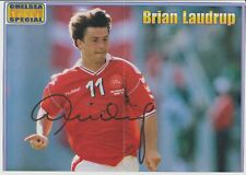 BRIAN LAUDRUP DENMARK INTER 1987-1998 ORIGINAL HAND SIGNED VERY LARGE PICTURE