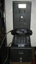 VINTAGE HOTEL PAY PHONE RARE WITH CASH BOX G-TELL HAS LABEL AND BACK STAND