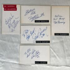 Lot of 17 MLB Players Autographed Index Cards from the 1980's