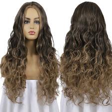 Long Curly Fluffy Beauty Brown Synthetic Full Women Wavy Heat Resistant Wigs