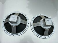 Pair Vintage Cleveland Alnico 12-inch 1962 Guitar Speakers 8-ohm TESTED WORKING