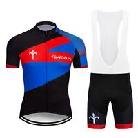 2019 Men's Racing Clothes Cycling Jersey Bib Shorts Set Outdoor Bike Sports Kits