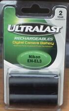 UltraLast Rechargeables Digital Camera Battery - Fits Nikon EN-EL3 - BRAND NEW