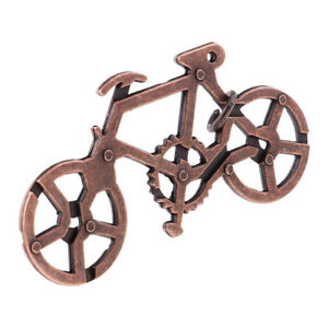Bicycle Lock Puzzle Mind Game Toy Steel Metal for Kids Adults IQ Test Magic