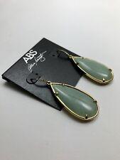 100% Authentic New ABS by Allen Schwartz Jade Colored Stone Drop Earrings