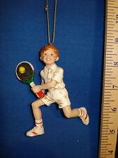Tennis Ornament Boy Tennis Player W3861T 541