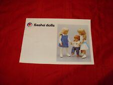 ORIGINAL SASHA ILLUSTRATED BOOKLET - 1984