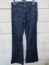 Jeans LACOSTE Devanlay bleu foncé pattes d'éléphant collection 38 Excellent Etat