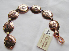 """Copper Bracelet Link CONCHO 7.5"""" USA 100% Copper NEW with Tags  CB267"""