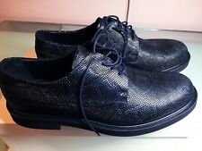 NEW $675 Emporio Armani Leather Men's Blue Shoes 10.5 US X4C451 made in  ITALY