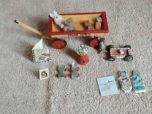 Dollhouse Miniature Vtg Toy Wagon Roller Skate Gum Ball Book Bear 16p Frame Bloc