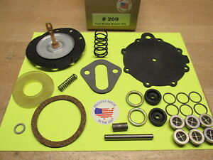 PACKARD AC 9590 UNLEADED FUEL PUMP REBUILD KIT TODAY'S FUEL 1951 1952 1953 1954