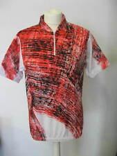 camiseta ciclismo bicicleta manga corta talla S poliéster / Algodón Rojo/Negro