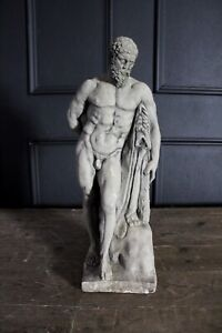 Antique Stone Statue Hercules