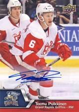 2014-15 Upper Deck AHL TEEMU PULKKINEN Autograph Auto #113 Griffins Red Wings