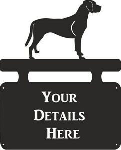 Hamiltonstovare House Name Outdoor Hanging Metal Black House Sign Personalised