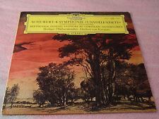 Herbert Von Karajan Schubert no 8 Beethoven LP Deutsche Grammophon Records EX