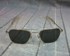 American Optical Sunglasses Aviators Vietnam 5 1/2 12K GF