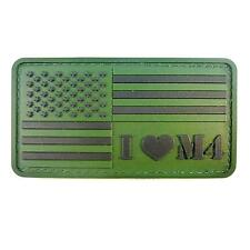 olive drab forest green us american flag PVC rubber 3D morale fastener patch