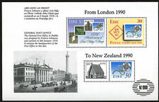 Ireland Stamp Anniversary From London to New Zealand 1990 w/ NZ 1990 OP Sc# 804b