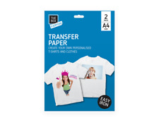 A4 Iron on T-Shirt - Transfer Paper For Ink Jet Print - Pack of 2 - T