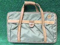 Vintage Hartmann Luggage Briefcase Carry On Overnight Nylon / Leather Briefcase