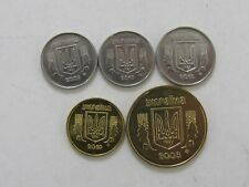 Lot of 5 Different Ukraine Coins - 2008 to 2010 - Brilliant Uncirculated