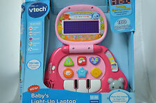 Vtech Babys Light laptop Toy NEW Songs Melodies Sounds Phrase Pink V-tech #SS
