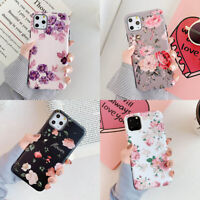 For iPhone 11 Pro Max XR XS 6 7 8 Plus Flower Patterned Girl Matte Soft TPU Case