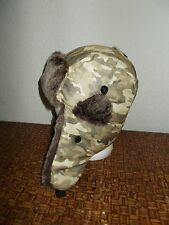 Camo Trapper or Aviator  Fur Flap Ear Hat  New with tags  (faux fur)