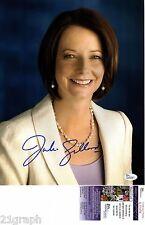 Julia Gillard Signed 11x14 Photo w/ JSA COA #L51470 Australia Prime Minister