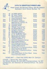 1978-79 University Of Buffalo Wrestling Schedule 101917jh