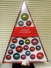 2015 Starbucks Countdown To Christmas Advent Calendar w/ Hanging Ornaments