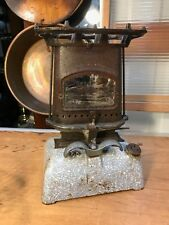 Antique Vintage Enamel & Cast Iron English Harper Beatrice Sad Iron Oven Heater