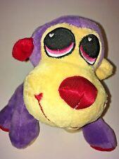 "Dan Dee Purple And Yellow Monkey Wearing A Love Heart 7"" Plush Stuffed Animal"
