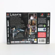 REAR BACK INLAY BOX ART ARTWORK PS1 PSONE LOUVRE THE FINAL CURSE GAME
