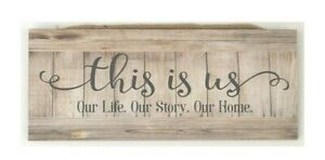 "This is Us. Our Life. Our Story. Our home. Wooden Wall Sign, 5x12"" FREE SHIPPING"