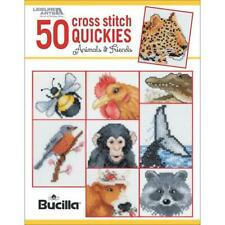 Leisure Arts Cross Stitch Patterns - 50 CROSS STITCH QUICKIES Animaux & Friends
