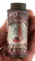 Vintage Mexene Chili Powder Devil Tin Advertising Can Cauldron 1 1/4 Oz Kitchen