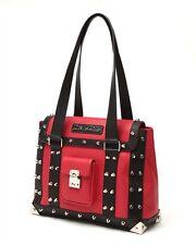Lux De Ville Mini Weekender Bag Red Black Matte Studded BRAND NEW
