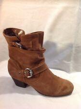 Viamarte Brown Ankle Suede Boots Size 41