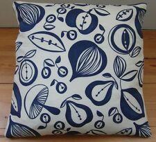 Handmade Sanderson Portobello housses de coussin bleu fruits 16 X 16 In (environ 40.64 cm) Rétro
