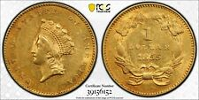 1855 $1 Indian Princess Head PCGS AU58 - bnpp
