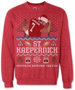 Colin Kaepernick San Francisco 49ers Ugly Sweater Sweatshirt (S)