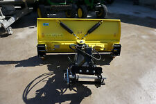 More details for new john deere compact tractor hme 5' snow blade hydraulic angling on wheels