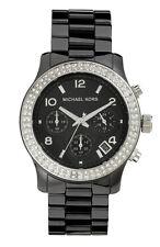 NEU Michael Kors Damen SCHWARZ CERAMICA KRISTALLE Watch MK5190 - 2 Jahre Garantie