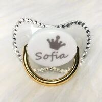 Personalized Custom Any Name Bling Pacifier Dummy Soother Unique Baby Kid Gifts