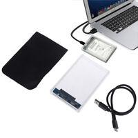 Transparent USB 3.0 External Hard Drive Enclosure Case for 2.5Inch SATA HDD  jv