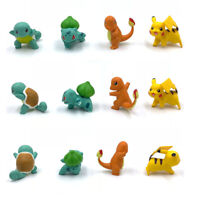 4PCS/LOT POKEMON GO action figure toys Pikachu Squirtle Charmander Bulbasaur