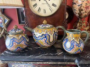Rare early Gouda Pottery tea set